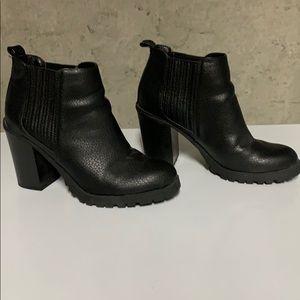 Black booties.  Size 7.5